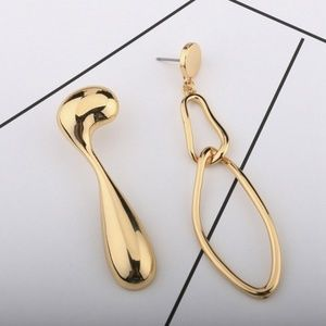 Jewelry - Original Design Abstract Asymmetric Drop Earrings